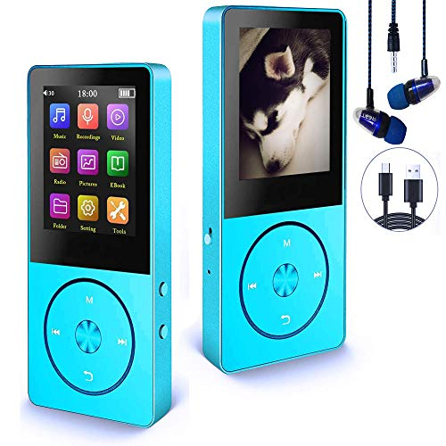 Mp3 Player, Hotechs Hi-Fi Sound, with FM Radio, Recording Function Build-in Speaker Expandable Up to 64GB with Noise Isolation Wired Earbuds (Black)