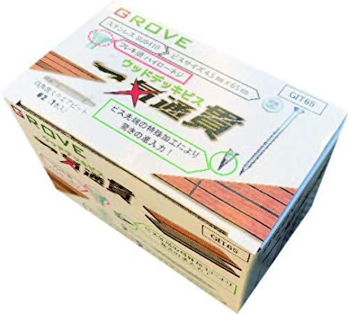 一気通貫 ステンレスウッドデッキビス SUS410 4.5㎜×65㎜ 1箱約200本入