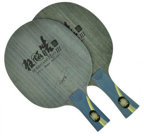 DHS Hurricane Hao 3 Single Fiberglass-Carbon Table Tennis Blade (Shakehand)