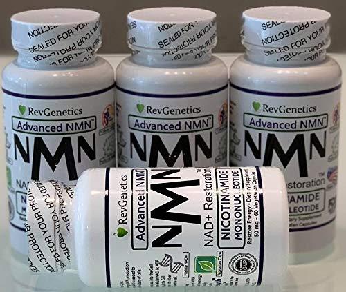 Revgenetics-NMN 60 Kapseln 3 +1 GRATIS, Nicotinamid Mononicleotid, schneller Versand aus der EU mit GLS