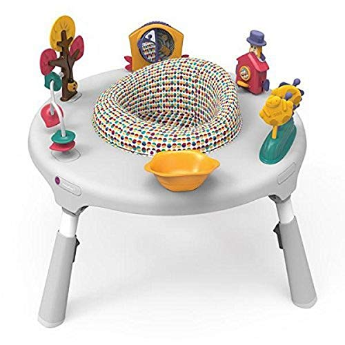 Oribel PortaPlay Baby Activity Center: Development Focused Toys. Foldable, Portable, and Transforms to a Play Table, Unisex (Wonderland Adventure, Gray)