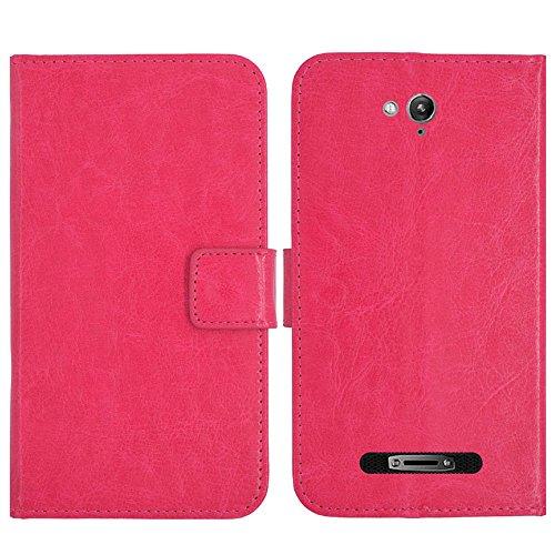 TienJueShi Rosa Flip Book-Style Brief Leder Tasche Schutz Hulle Handy Hülle Abdeckung Fall Wallet Cover Etui Skin Fur Blackview BV8000 Pro 4G 5 inch
