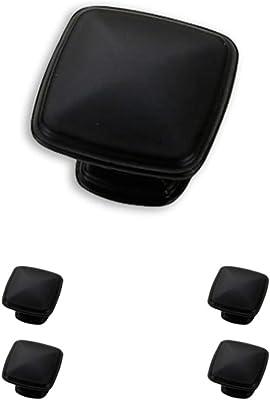 25-Pack 1.25 Diameter Flat Black Basics AB400-FB-25 Traditional Square Cabinet Knob