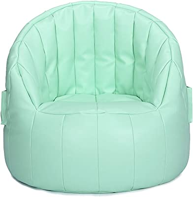 YAXIAO-lazy sofa Lazy Couch Bean Bag Single Fabric Tatami Small Sofa Balcony Seat (Color : Blue-Green)