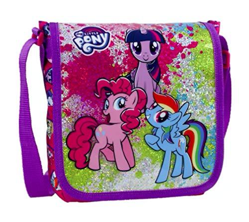 My Little Pony Einhorn Unicorn Pferd Horses Tasche Handtasche Schultertasche Umhängetasche Kindertasche Kinder mit Sticker-von-Kids4shop