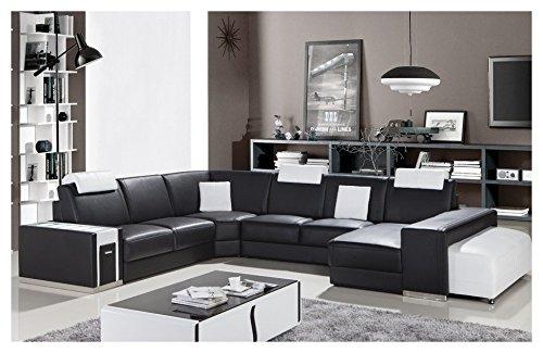 Mister Design kyliane Divano Legno/Pelle/Similpelle 361x 287x 85cm