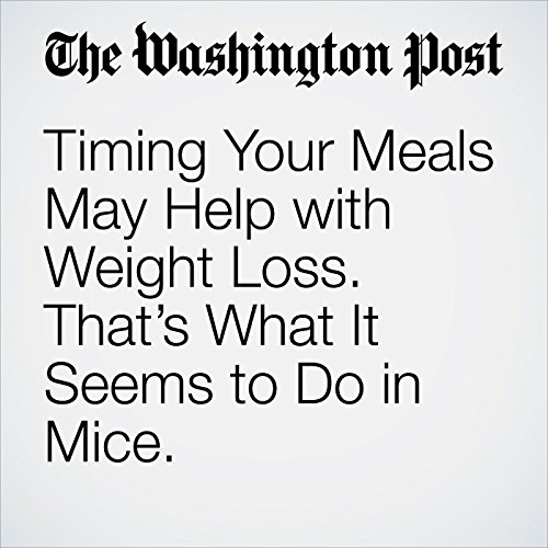 Timing Your Meals May Help with Weight Loss. That's What It Seems to Do in Mice. audiobook cover art