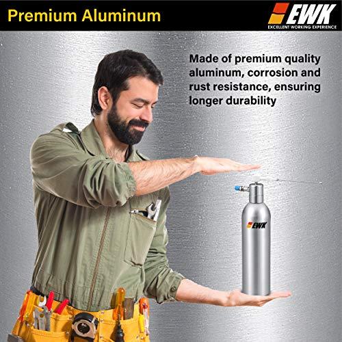EWK Aerosol Refillable Spray Can Aluminum Compressed Air Bottle Pneumatic Oil Pressure Storage Sprayer
