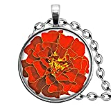 Death Devil Glass Pendant Necklace,Solar Eclipse Jewelry