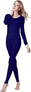 UYES Women's Thermal Underwear Set Top & Bottom Fleece Lined