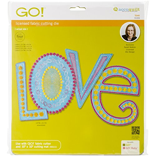 AccuQuilt GO! Fabric Cutting Dies, Love by Sarah Vedeler