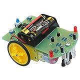 HALJIA Tracking Robot Car Electronic DIY Kit with Gear Motor