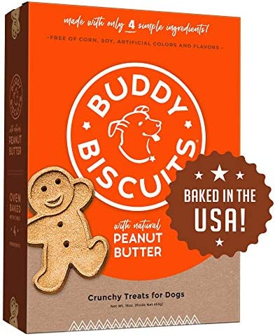 Buddy Biscuits Oven Baked Treats with Peanut Butter Whole Grain 16 oz Single Box product image