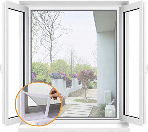 Rete per finestre anti-zanzare, rete di protezione per gatti, in fibra di vetro lavabile rimovibile con nastro adesivo, dimensioni fai da te, facile da installare, 3 x 1 m, colore: bianco