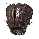 Louisville Slugger 2018 Tpx Pitcher's Baseball Glove - Left Hand Throw Dark Brown/White, 11.75'