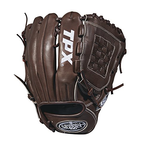 Louisville Slugger 2018 Tpx Pitcher's Baseball Glove - Right Hand Throw Dark Brown/White, 11.75'