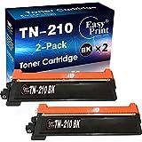 2-Pack of Black Compatible TN210BK TN-210BK Toner Cartridge TN210 Used for Brother HL-3070CW 3075CW HL-3040CN HL-3045CN MFC-9120CN MFC-9320CW MFC-9010CN Laser Printer, by EasyPrint