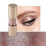 Sombra de ojos monocromática perlada, paleta de sombras de ojos con brillo metálico de 8 colores, sombra de ojos, maquillaje de diamantes para fiestas, bodas, maquillaje diario (#6)