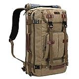WITZMAN Canvas Backpack Vintage Travel Backpack Large Laptop Bags Convertible Shoulder Rucksack (A519-1 Classic Light Green)