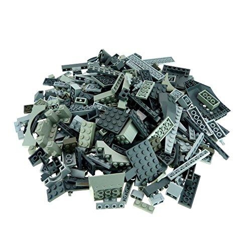 0,5 kg Lego System Basic Steine Sondersteine sortiert nach Farbe hell dunkel grau Form der Steine zufällig gemischt 500 g Sortierung für Star Wars