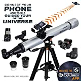 Celestron – StarSense Explorer LT 80AZ Smartphone App-Enabled Telescope – Works with StarSense App to Help You Find Stars, Planets & More – 80mm Refractor – iPhone/Android Compatible
