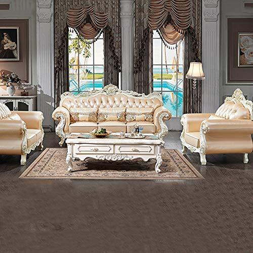 WSN Rinconera sofá,Sofá reclinable Moderno del sofá Cama del futón Convertible de la imitación de Cuero con/piernas del Metal