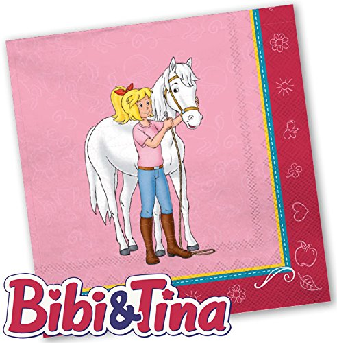 Bibi & Tina 20 Servietten Kinderparty und Kindergeburtstag von DH-Konzept // Blocksberg Napkins Papierservietten Party Set