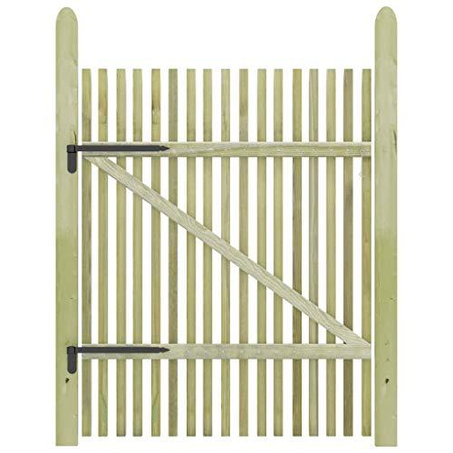 UnfadeMemory Pfahl-Gartentor Gartentür Zauntür Garten Eingangstor Imprägniertes Kiefernholz Gartenpfahltor Pfahlzauntor Holztor für Garten oder Terrasse (100 x 150 cm)