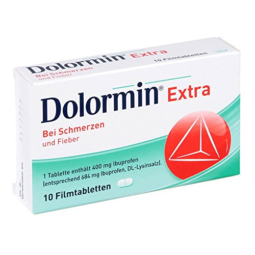 Dolormin extra Filmtabletten bei Schmerzen und Fieber, 10 St. Tabletten