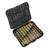 EnerTwist Titanium Drill Bit Kit Set for Metal and Wood 230-Piece - Coated HSS Conventional 118°...