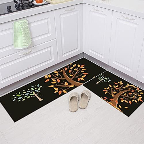 Alfombra de cocina, armario, zapatero, alfombra decorativa, alfombra antideslizante baño, alfombra lavable puerta NO.2 50X80cm