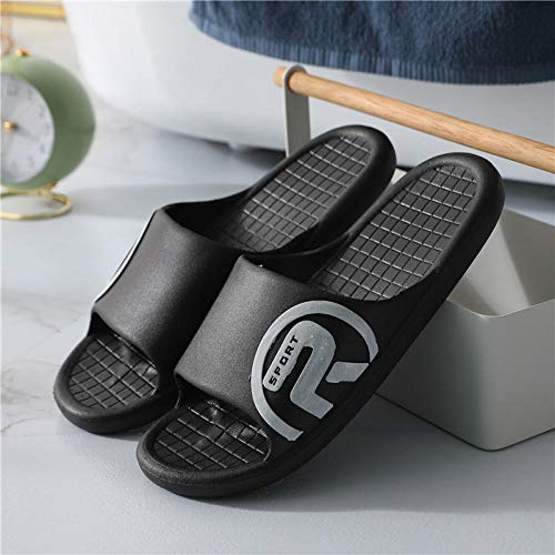 TDYSDYN Women Men Bath Slipper Anti-Slip,Couple pcv sandals and slippers, bath plastic slippers-85.5 black_9-9.5,Sole Open Toe House Slippers