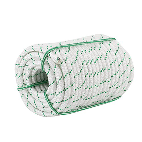 """0.55"""" Durable Braid Polyester Rope, 125 ft Heavy Duty Rope for Tie, Pull, Swing, Climb and Knot, High Strength Arborist Rope w/ 5000 lbs Breaking Stre"""