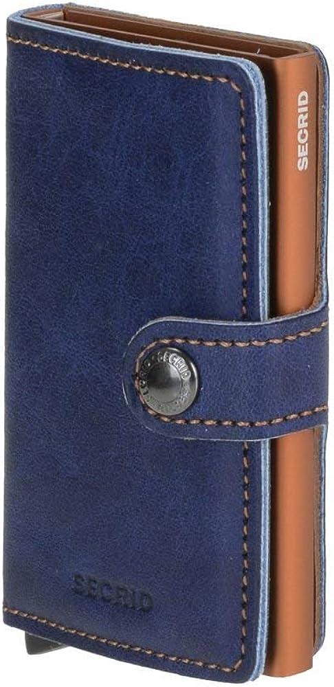 Secrid indigo 5, portafoglio da uomo, con porta carte di credito rfid, in pelle e metallo 12401756405803
