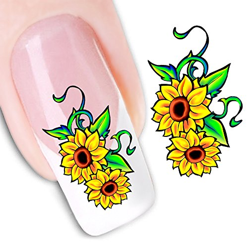 Mode Autocollant Portable Fleur Motif Nail Stickers Nail Art Outil,G