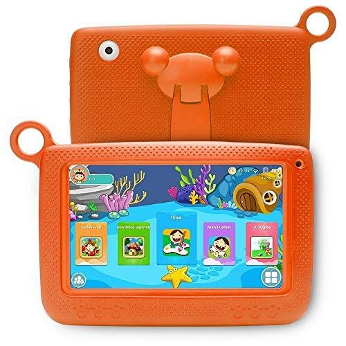 GUPENG Mejor Tablet PC, 758 niños Educación Tablet PC con el Soporte, 7,0 Pulgadas, 512MB + 8 GB, procesador de Allwinner A33 de Cortex A7, Ayuda WiFi, etc. (Color : Orange)
