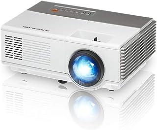 Mini Portable Video Projector HD HDMI 1500 Lumens Zoom Keystone LED Home Movie Gaming Projector with HDMI USB VGA AV Audio...