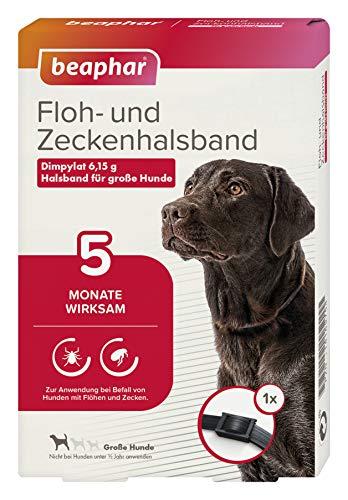 beaphar 17604 Floh- und Zeckenhalsband für große Hunde, 65 cm