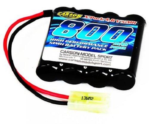 Carson 500608114 - Akku Pack, 4.8 V / 800 mAh NiMH Mini Tamiya