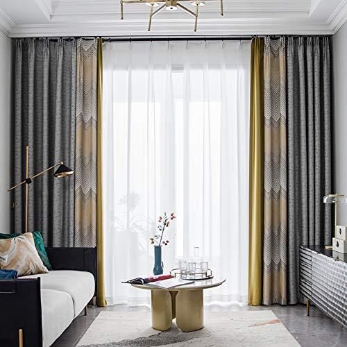 SXCDD Wohnzimmervorhang,Nähte Verdickt Wärmeisoliert Verdunklungsvorhänge,Bay-Fenster Bodenvorhang,1stk A 350x270cm (138x106inch)