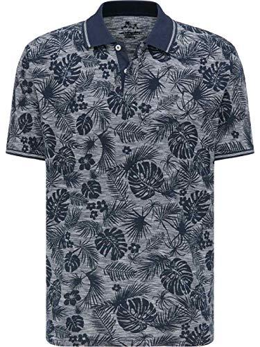Pioneer Herren Poloshirt, Kurzarm, grau, Druck