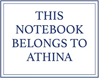 This Notebook Belongs to Athina