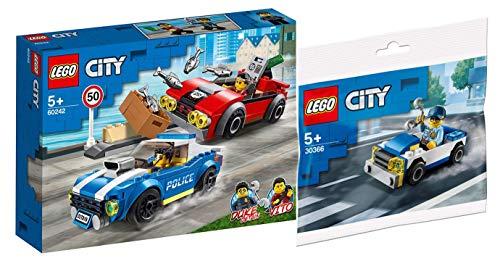 Legoo Lego City Set: 60242 – Arrestación en la autopista + 30366 coche de policía, a partir de 5 años