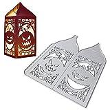 UFLF Halloween Stanzschablonen Laterne Stanzen Metall Prägeschablonen Stanzformen Cutting Dies für DIY Scrapbooking Karten Handwerk Geschenk Homedeko