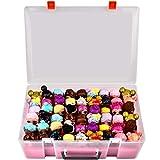 Adam Dolls Toys - Caja organizadora para muñecas LL, figuras Calico Critters, figuras LPS, Shopkins, dimensiones Lego y más mini Dolls Toys Container Box
