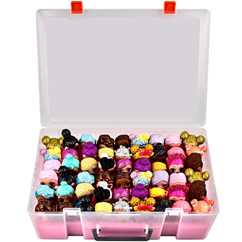 Adam Dolls Toys Organizer Storage Case for LL Dolls, Calico Critters, LPS Figures, Shopkins, Lego Dimensions and More Mini Dolls Toys Container Box