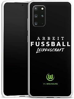 DeinDesign Silikon Hülle kompatibel mit Samsung Galaxy S20 Plus Case weiß Handyhülle VFL Wolfsburg Offizielles Lizenzprodukt Statement