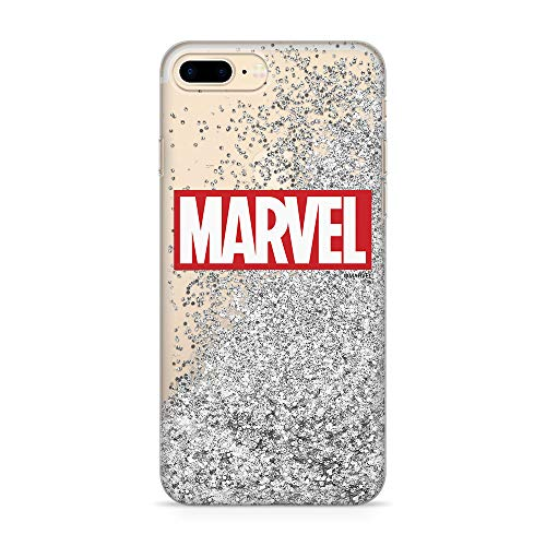 Estuche para iPhone 7 Plus/8 Plus Marvel Original con Licencia Oficial, Carcasa, Funda, Estuche de Material sintético TPU-Silicona, Protege de Golpes y rayones