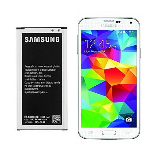 Batteria per Samsung Galaxy S5, sostituisce la batteria originale Denominazione: EB ufficiale 2800 mAh