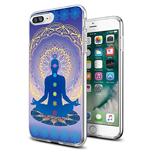 Cocomong Cool Chakra Yoga Thin Solf TPU iPhone Case for iPhone 8 Plus iPhone 7 Plus 5.5 Inch for Women Girls Men